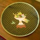 Antico piatto cinese Cloisonné