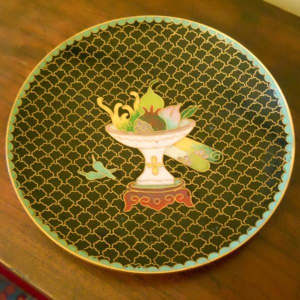 Antico piatto cinese cloisonn for Piatto cinese
