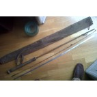 Canna da pesca antica in bamboo