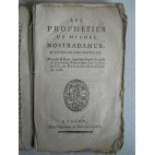 Les Prophèties de Michel Nostradamus